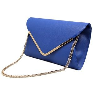 NWT✨ Blue and Gold Clutch w Straps